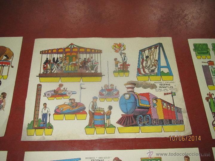 Coleccionismo Recortables: Colección Completa 9 Hojas Recortables KIKI LOLO *ESCENAS INFANTILES* Edit.ROMA Barcelona - Año 1970 - Foto 3 - 43758099