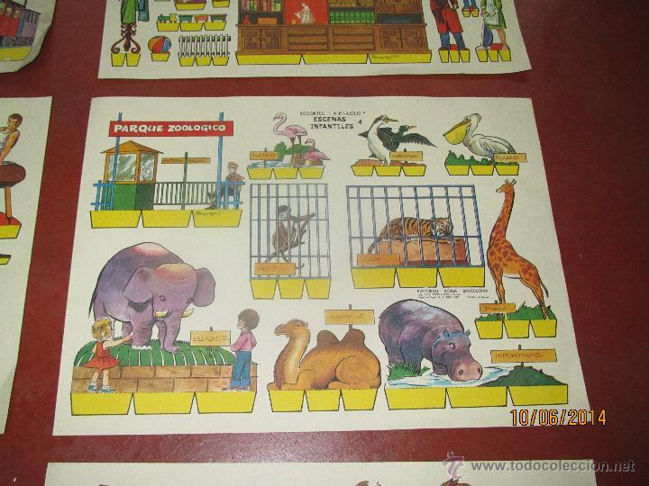 Coleccionismo Recortables: Colección Completa 9 Hojas Recortables KIKI LOLO *ESCENAS INFANTILES* Edit.ROMA Barcelona - Año 1970 - Foto 4 - 43758099