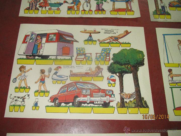 Coleccionismo Recortables: Colección Completa 9 Hojas Recortables KIKI LOLO *ESCENAS INFANTILES* Edit.ROMA Barcelona - Año 1970 - Foto 6 - 43758099