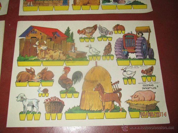 Coleccionismo Recortables: Colección Completa 9 Hojas Recortables KIKI LOLO *ESCENAS INFANTILES* Edit.ROMA Barcelona - Año 1970 - Foto 8 - 43758099