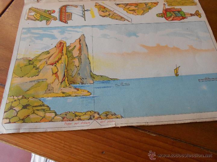 Coleccionismo Recortables: ANTIGUO RECORTABLE: COLONIZACIÓN FENICIA (CUADROS HISTÓRICOS) EDICIONES SALVATELLA - Foto 7 - 43824216