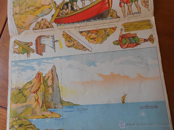 Coleccionismo Recortables: ANTIGUO RECORTABLE: COLONIZACIÓN FENICIA (CUADROS HISTÓRICOS) EDICIONES SALVATELLA - Foto 8 - 43824216