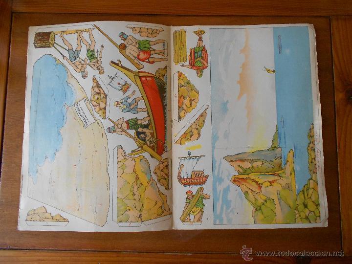 Coleccionismo Recortables: ANTIGUO RECORTABLE: COLONIZACIÓN FENICIA (CUADROS HISTÓRICOS) EDICIONES SALVATELLA - Foto 9 - 43824216