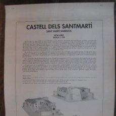 Coleccionismo Recortables: RECORTABLE.RETALLABLE. CASTELL DELS SANTMARTI. SANT MARTI DE SARROCA. 4 HOJAS.. Lote 43840075