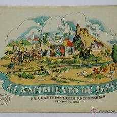 Coleccionismo Recortables: EL NACIMIENTO DE JESUS. RECORTABLES LA TIJERA. ORIGINAL AÑOS 50. 8 LÁMINAS + PORTADAS. MIDE 34 X 25 . Lote 44055192