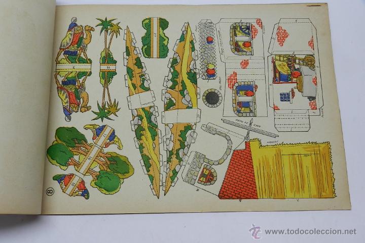 Coleccionismo Recortables: EL NACIMIENTO DE JESUS. RECORTABLES LA TIJERA. Original años 50. 8 láminas + portadas. MIDE 34 x 25 - Foto 2 - 44055192