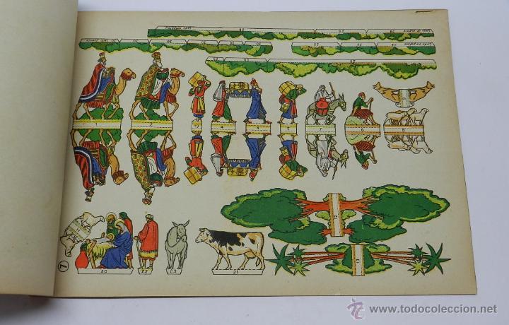 Coleccionismo Recortables: EL NACIMIENTO DE JESUS. RECORTABLES LA TIJERA. Original años 50. 8 láminas + portadas. MIDE 34 x 25 - Foto 3 - 44055192