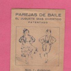 Coleccionismo Recortables: PAREJAS DE BAILE. NUM 1. ANDALUCES. EDICIONES BARSAL - JUAN BARGUÑÓ Y CIA. BARCELONA, SIN FECHA.. Lote 57216866