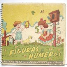 Coleccionismo Recortables: LIBRO RECORTABLE FIGURAS Y NUMEROS. MATEMATICAS PARA PEQUEÑINES. J. BAEZA AÑOS 40 MAGISTERIO ESPAÑOL. Lote 45419480