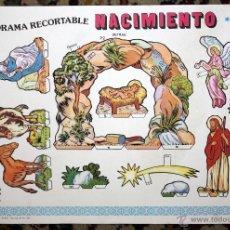 Coleccionismo Recortables: DIORAMA RECORTABLE NACIMIENTO BELEN PESEBRE NAVIDAD ED. EDIVAS. 1986. Lote 45634312