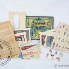 Coleccionismo Recortables: ESTUCHE RECORTABLES TEATRO MINIATURA - 9 DECORADOS Y 19 FIGURAS - ED. BARSAL, AÑOS 30- INCOMPLETO. Lote 47531370