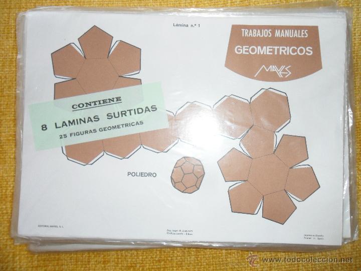 TRABAJOS MANUALES GEOMETRICOS MAVES. ESPECTACULAR LOTE DE 25 LOTES CONTENIENDO 8 LAMINAS SURTIDAS CO (Coleccionismo - Otros recortables)
