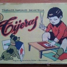 Coleccionismo Recortables: RECORTABLES TIJERAS : TRABAJOS MANUALES SALVATELLA - SEIS CUADERNOS. Lote 50691723