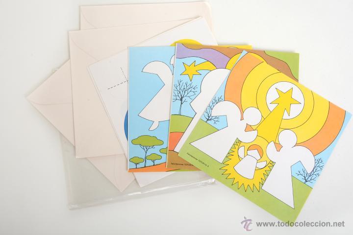 Coleccionismo Recortables: Lote de 4 Recortables Salvatella de los años 70 Felicitaciones Navidad Totus - Foto 4 - 147239670