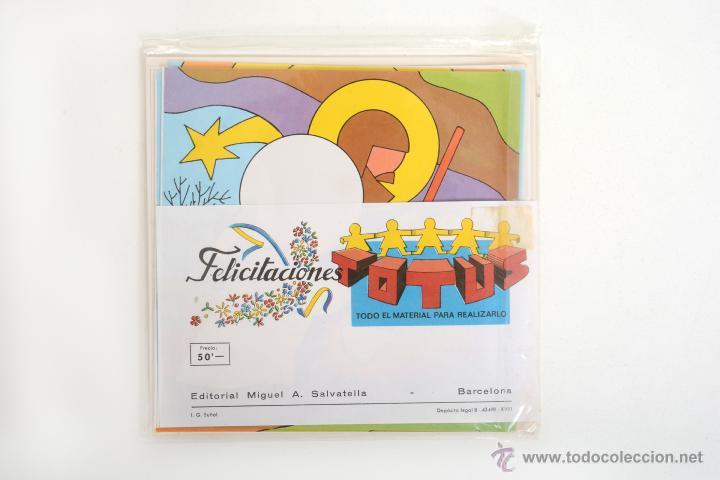 Coleccionismo Recortables: Lote de 4 Recortables Salvatella de los años 70 Felicitaciones Navidad Totus - Foto 5 - 147239670