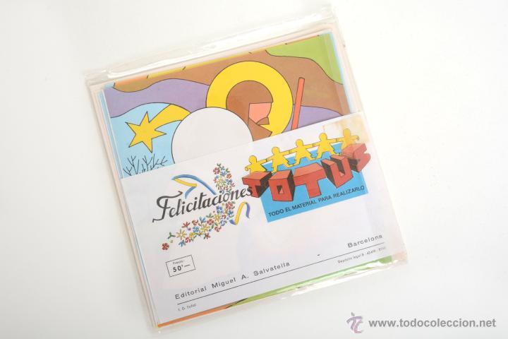 Coleccionismo Recortables: Recortable Salvatella de los años 70 Felicitaciones Navidad Totus - Foto 3 - 147239670