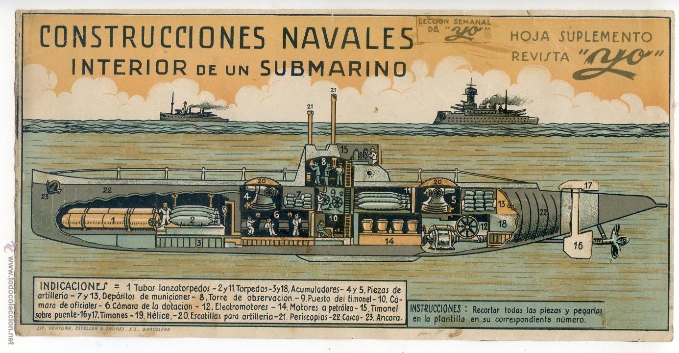 Construcciones navales interior de un submarin comprar for Interior submarino