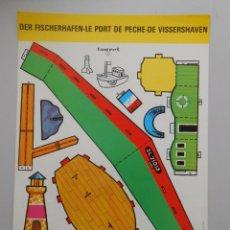 Coleccionismo Recortables: RECORTABLE BARCO PEQUEÑO. TDKP5. Lote 51375049