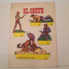 Coleccionismo Recortables: RECORTABLE EL OESTE -1979. Lote 52972072