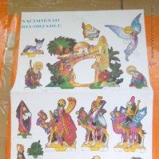 Coleccionismo Recortables: RECORTABLE NACIMIENTO DE 1980 3 LÁMINAS. LOROÑO. Lote 53073188