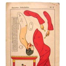 Coleccionismo Recortables: LAMINA RECORTABLE RECORTES ARTICULADOS Nº 2 MODELO PAYASO EDITORIAL ROMA BARCELONA AÑOS 30 - 40. Lote 53316622