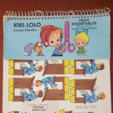 Coleccionismo Recortables: RECORTABLES KIKI-LOLO . ESCENAS INFANTILES EN BLOC 23 PAGINAS COMPLETAS. BUEN ESTADO. Lote 53625624