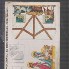 Coleccionismo Recortables: BELEN PARA MONTAR EN TRES DIMENSIONES - DESPLEGEBLE. Lote 55568586