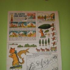 Coleccionismo Recortables: RECORTABLE EDICIONES TBO COLECCIÓN MAGISTER EL GATO CON BOTAS. Lote 55860856