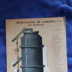 Coleccionismo Recortables: LÁMINA INYECTADORA DE CEMENTO POR PROYECCIÓN / Nº 89 / TROQUELADO. Lote 56552891