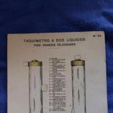 Coleccionismo Recortables: LÁMINA TAQUÍMETRO A DOS LÍQUIDOS PARA GRANDES VELOCIDADES / Nº 82 / TROQUELADO. Lote 56552956