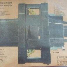 Coleccionismo Recortables: LÁMINA NUEVO ACOPLAMIENTO DE DOBLE PLATILLO DE FRICCIÓN / Nº 92 / TROQUELADO. Lote 56798276