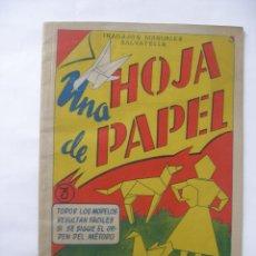 Coleccionismo Recortables: TRABAJOS MANUALES UNA HOJA DE PAPEL Nº 3 EDITORIAL SALVATELLA AÑOS 60, SIN USO. Lote 57282636