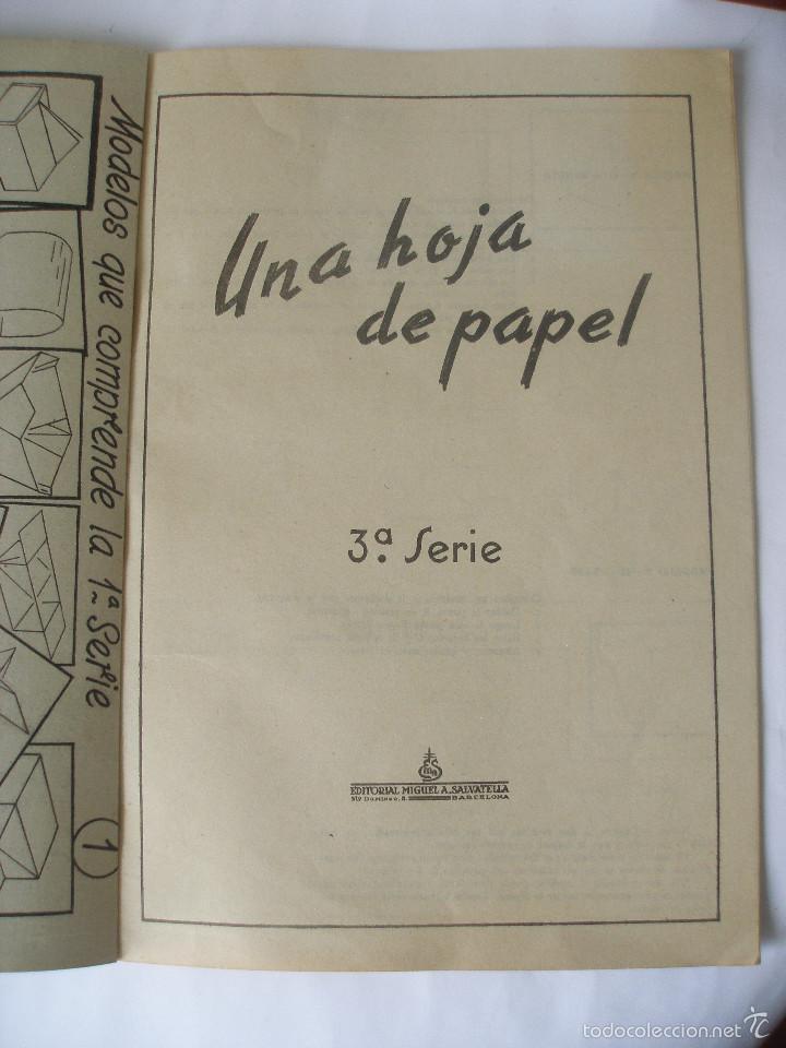 Coleccionismo Recortables: Trabajos manuales Una hoja de papel nº 3 Editorial Salvatella años 60, Sin uso - Foto 5 - 57282636