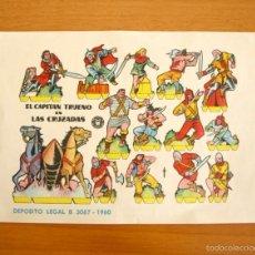 Coleccionismo Recortables: EL CAPITÁN TRUENO EN LAS CRUZADAS - RECORTABLES EDITORIAL BRUGUERA . Lote 57339591