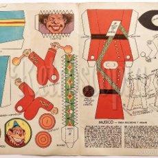 Coleccionismo Recortables: LAMINA RECORTABLE MÚSICO CON TAMBOR COLECCIÓN DE LA REVISTA ARGENTINA BILLIKEN AÑOS 50. Lote 57765800