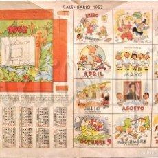Coleccionismo Recortables: LAMINA RECORTABLE CALENDARIO DE 1952 COLECCION DE LA REVISTA ARGENTINA BILLIKEN AÑOS 50. Lote 57765836
