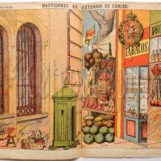 Coleccionismo Recortables: LAMINA RECORTABLE DECORACIONES DE TEATRO BASTIDORES DE EXTERIOR DE CARCEL Nº 510 PALUZIE AÑOS 40. Lote 57768383