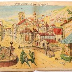 Coleccionismo Recortables: LAMINA RECORTABLE DECORACIONES DE TEATRO PUEBLO Nº 1038 PALUZIE AÑOS 40. Lote 57768521