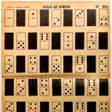 Coleccionismo Recortables: LAMINA RECORTABLE EL JUEGO DEL DOMINÓ Nº 924 ESTAMPERÍA ECONÓMICA DE PALUZIE AÑOS 40. Lote 57768728