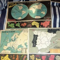 Coleccionismo Recortables: 3 SUPLEMENTO REVISTA YO . RECORTABLE . 27 /18 CM LIT VENTURA MAPA MUNDI EUROPA ESPAÑA GEOGRAFIA. Lote 58088139