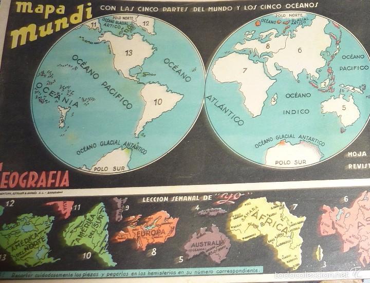 Coleccionismo Recortables: 3 suplemento revista yo . recortable . 27 /18 cm lit ventura mapa mundi europa españa geografia - Foto 2 - 58088139
