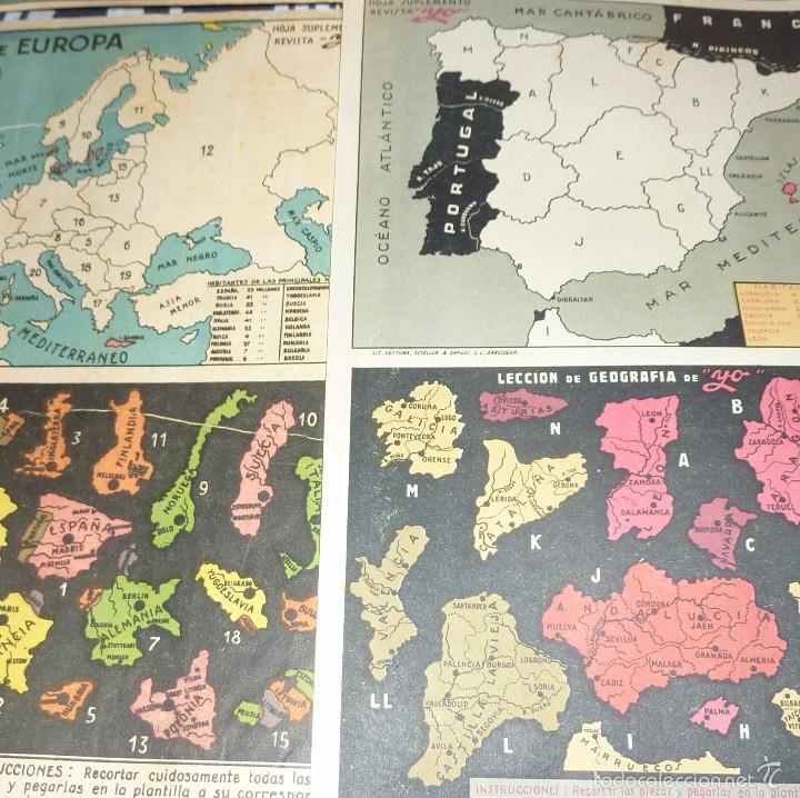 Coleccionismo Recortables: 3 suplemento revista yo . recortable . 27 /18 cm lit ventura mapa mundi europa españa geografia - Foto 4 - 58088139