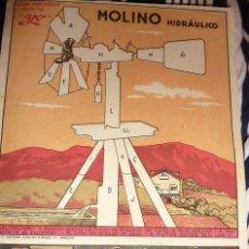 Coleccionismo Recortables: SUPLEMENTO REVISTA YO . RECORTABLE . 27 /18 CM MOLINO HIDRAULICO LIT VENTURA AÑOS 40. Lote 58088209