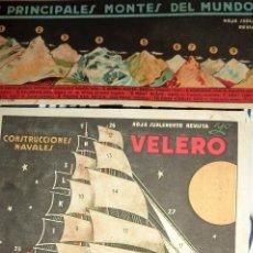 Coleccionismo Recortables: 2 SUPLEMENTO REVISTA YO . RECORTABLE . 27 /18 CM MONTES DEL MUNDO VELERO COMPLETADOS LIT VENTURA. Lote 58088279