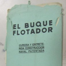 Coleccionismo Recortables: RECORTABLE. EL BUQUE FLOTADOR. TRANSATLANTICO. EDICIONES TBO, BARCELONA. Lote 58390418