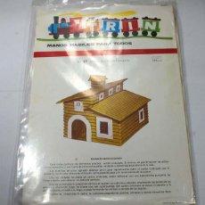 Coleccionismo Recortables: TRIN, MANOS HABILES PARA TODOS Nº 57 CASITAS DE CARTON ONDULADO 1971, SIN DESPRECINTAR. Lote 58483047