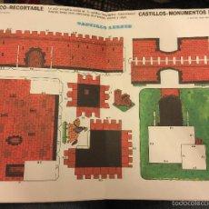 Coleccionismo Recortables: ANTIGUO RECORTABLE FRUCO - RECORTABLE, CASTILLOS - MONUMENTOS N.4- CASTILLO LEONÉS. Lote 60130599