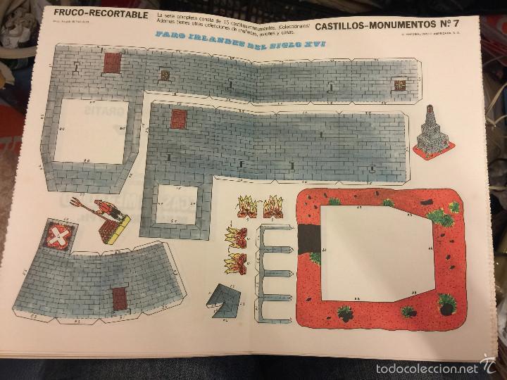ANTIGUO RECORTABLE FRUCO - RECORTABLE, CASTILLOS - MONUMENTOS N.7- FARO IRLANDES S.XVI (Coleccionismo - Otros recortables)