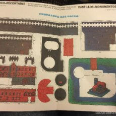 Coleccionismo Recortables: ANTIGUO RECORTABLE FRUCO - RECORTABLE, CASTILLOS - MONUMENTOS N.8- FORTALEZA DEL LOIRA. Lote 76573355