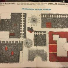 Coleccionismo Recortables: ANTIGUO RECORTABLE FRUCO - RECORTABLE, CASTILLOS - MONUMENTOS N.10- FORTALEZA DE 2 TORRES. Lote 76573271